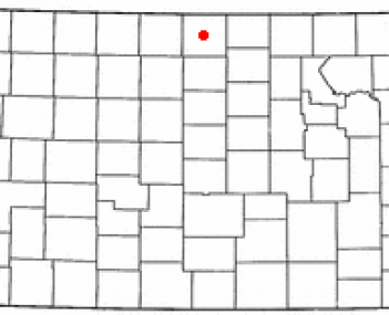 Location of Mankato, Kansas