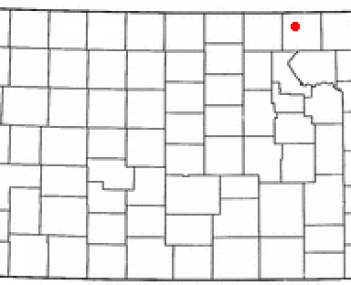 Location of Marysville, Kansas