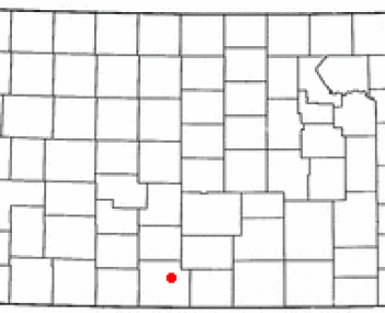 Location of Medicine Lodge, Kansas