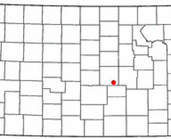 Location of Moundridge, Kansas