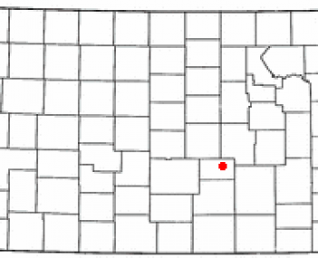Location of North Newton, Kansas