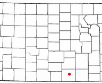 Location of Wellington, Kansas