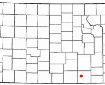 Location of Winfield in Kansas