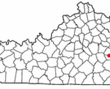 Location of Booneville, Kentucky