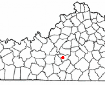 Location of Campbellsville, Kentucky