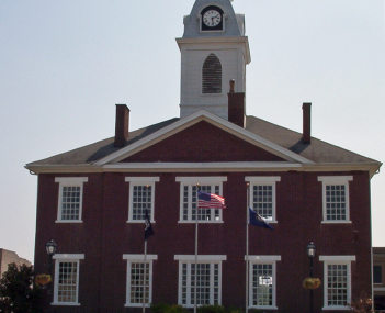 The Todd County courthouse in the Elkton town square