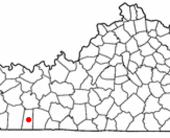 Location of Elkton within Kentucky