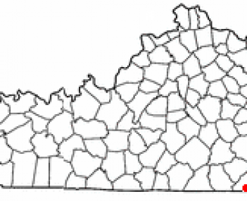 Location of Middlesboro, Kentucky