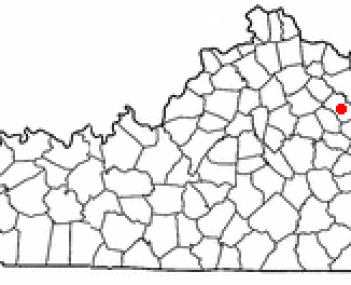 Location of Owingsville, Kentucky
