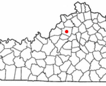 Location of Shelbyville, Kentucky