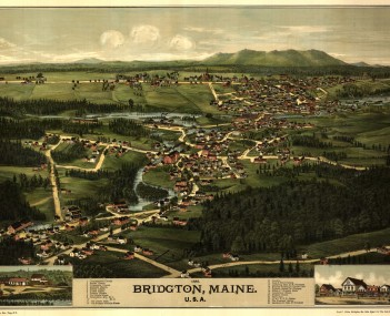 Bird's eye view of 1888 Bridgton