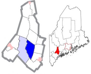 Androscoggin County Maine Incorporated Areas Lewiston Highlighted