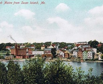 Richmond from Swan Island in 1908