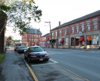 Street in Searsport. The Penobscot Marine Museum is across the street.