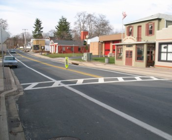 Old Town Bowie, as seen from the intersection of Maryland Route 564 and Chapel Avenue in January 2008