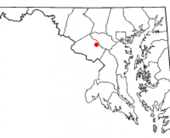 Location of Brookeville, Maryland