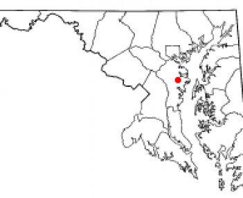 Location of Crownsville, Maryland