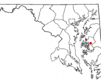 Location of Easton, Maryland