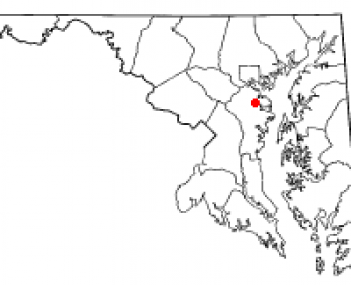 Location of Pasadena in Maryland