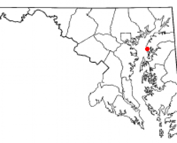 Location of Rock Hall, Maryland