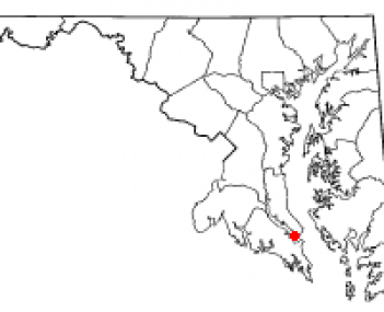 Location of Solomons, Maryland