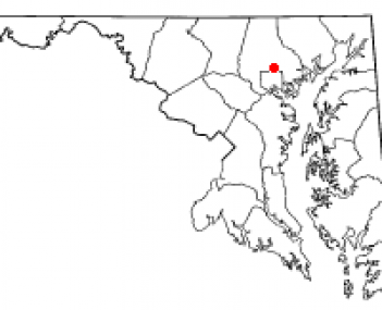 Location of Towson, Maryland