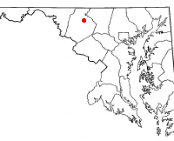 Location of Woodsboro, Maryland