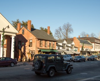 View of Concord's Main Street in December