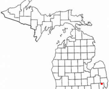 Location of Armada, Michigan
