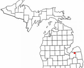 Location of Cass City, Michigan