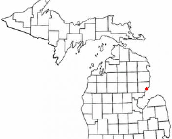 Location of East Tawas, Michigan