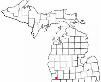 Location of Hudsonville within Michigan