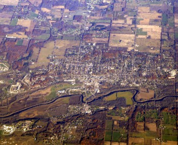 Aerial photo of Ionia taken November 2007