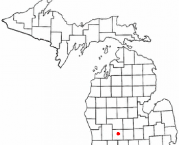 Location of Ionia, Michigan