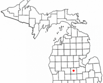 Location of Ithaca, Michigan