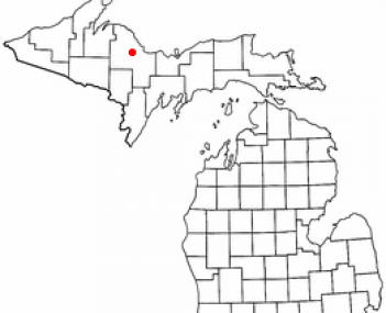 Location of Negaunee, Michigan