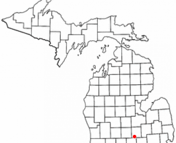Location of Perry, Michigan