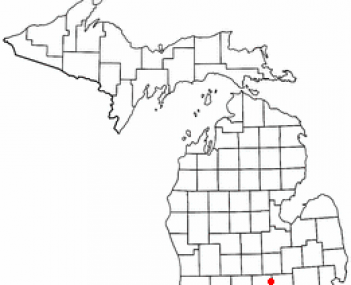 Location of Webberville, Michigan