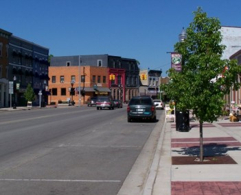 Downtown Williamston, looking eastward on Grand River Avenue.