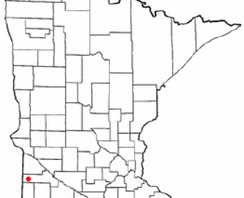 Location of Canby, Minnesota