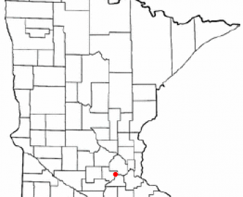 Location in Carver County and the state of Minnesota