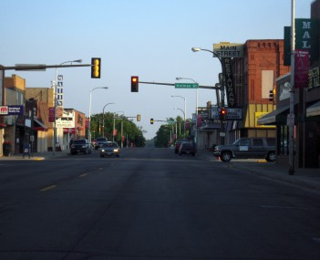 Downtown Detroit Lakes along Washington Avenue