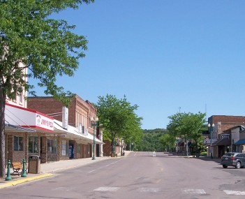 Prentice Street in downtown Granite Falls in 2007