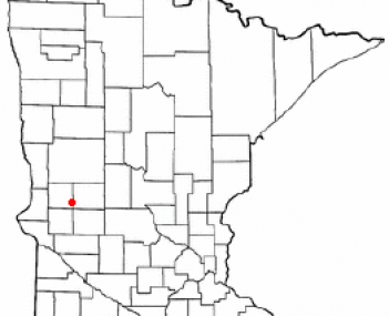 Location of Hoffman, Minnesota