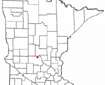Location of Holdingford, Minnesota
