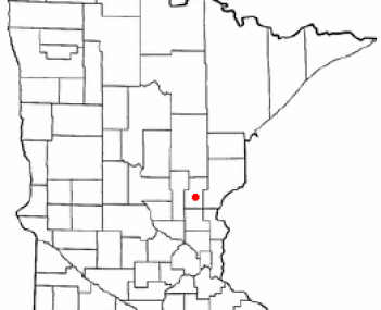 Location of Mora, Minnesota