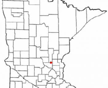 Location of Princeton, Minnesota