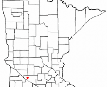 Location of Renville, Minnesota