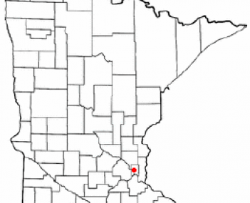 Location of Roseville, Minnesota
