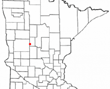 Location of Wadena, Minnesota